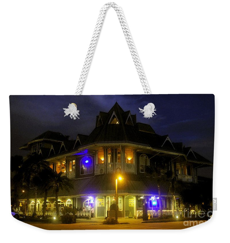Building Weekender Tote Bag featuring the painting A Night At The Hurricane by David Lee Thompson