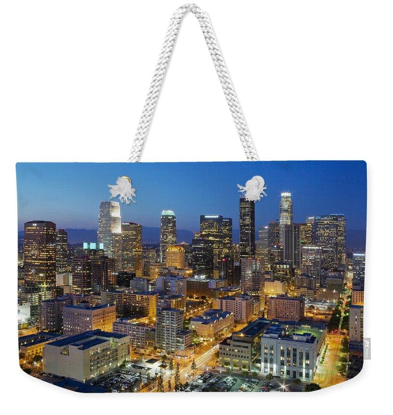 Los Angeles Skyline Weekender Tote Bags