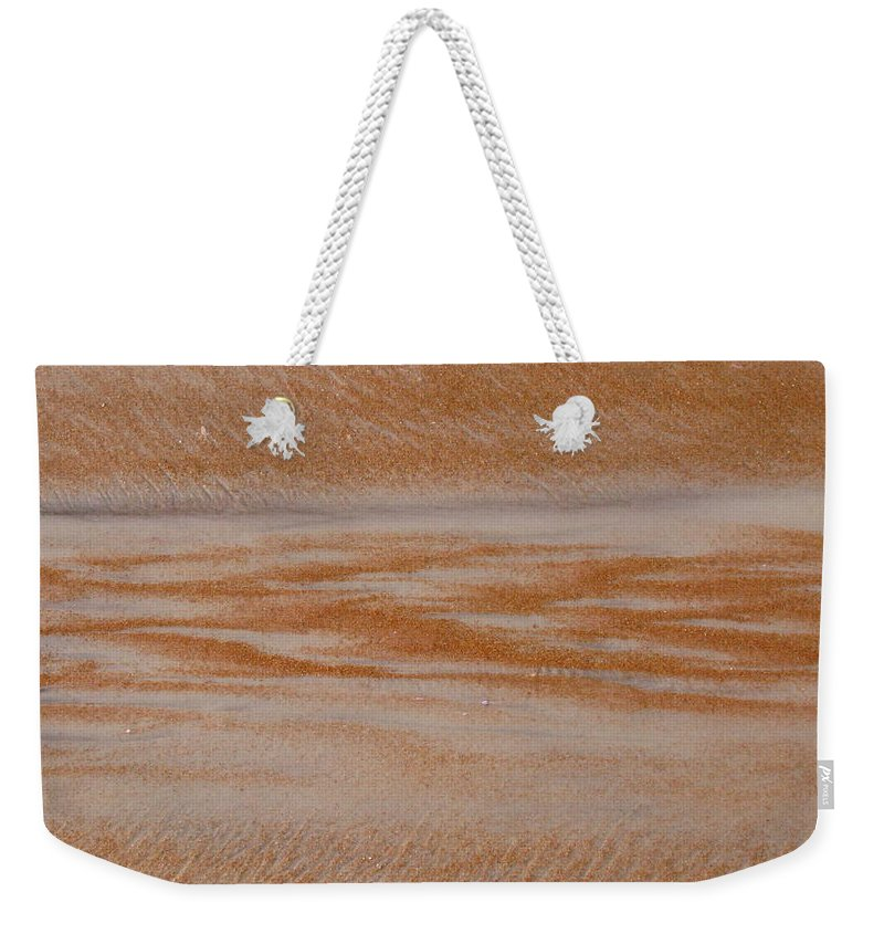 Sand Weekender Tote Bag featuring the photograph A Path Out To Sea by Mandy Shupp