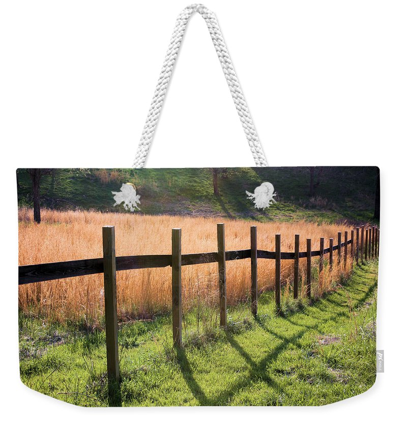 Fence Weekender Tote Bag featuring the photograph A Path Seldom Taken by Kristin Elmquist