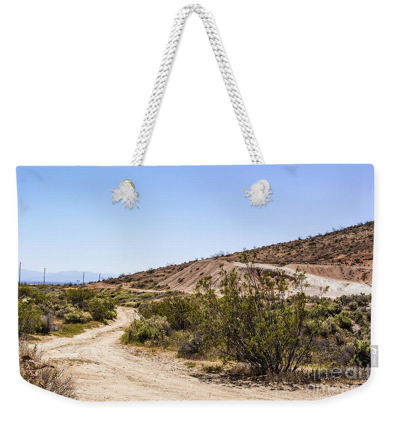 Adventure Weekender Tote Bag featuring the photograph A Path Through The Desert by Joe Lach