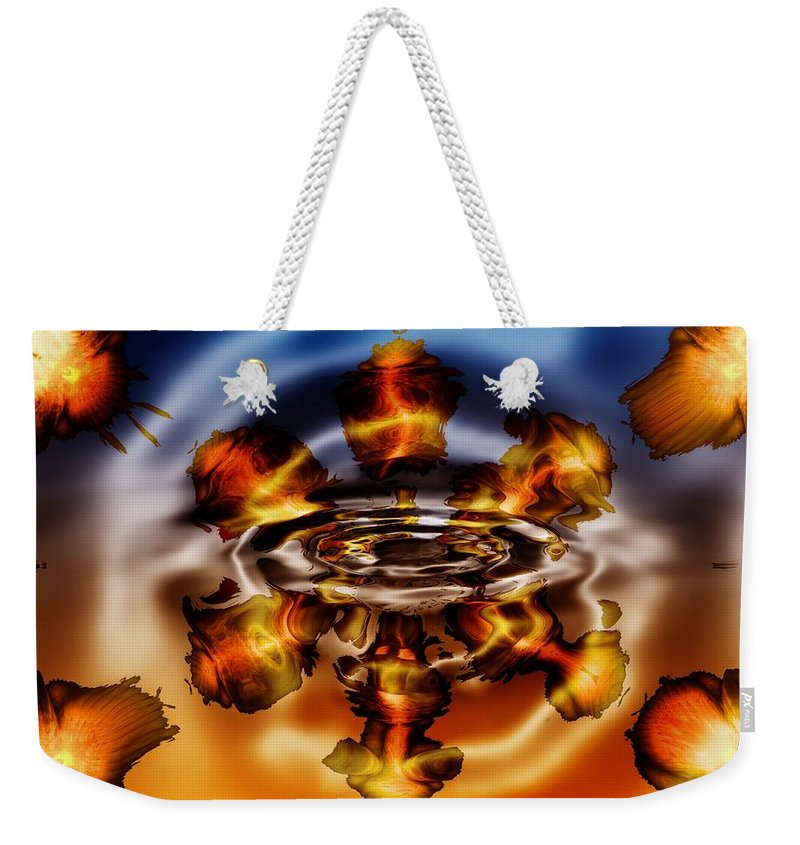 Gold Weekender Tote Bag featuring the digital art A Piece Of My Soul by Robert Orinski