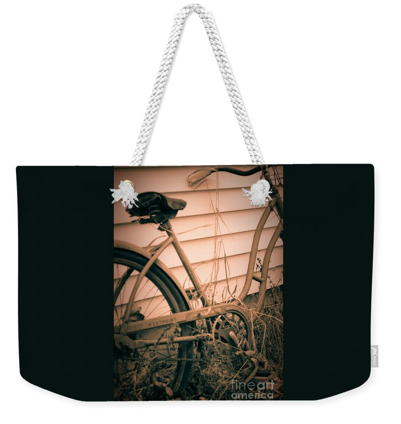 Bike Weekender Tote Bag featuring the photograph A Place In Time by Michelle Hastings