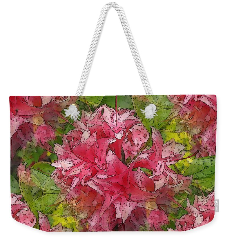 Pink Weekender Tote Bag featuring the digital art A Prediliction For Pink by Tim Allen