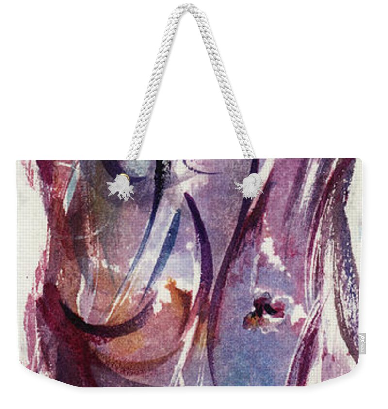 Floral Weekender Tote Bag featuring the painting A Pretty Moment by Rachel Christine Nowicki
