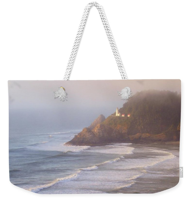 Oregon Coast Weekender Tote Bag featuring the photograph A Quiet Place by Deborah Crew-Johnson