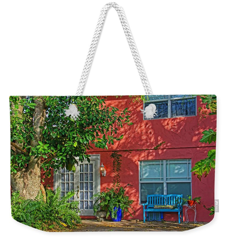 Architecture Weekender Tote Bag featuring the photograph A Quiet Respite by HH Photography of Florida