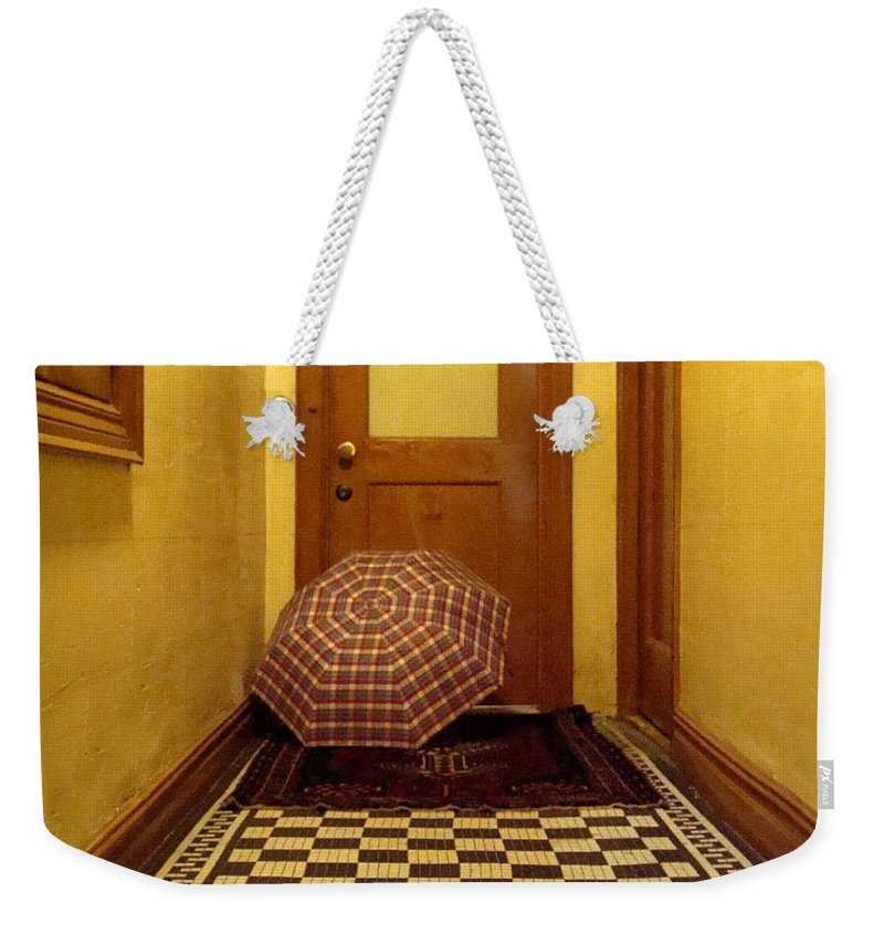 Wood Weekender Tote Bag featuring the photograph A Rainy Day In Astoria by Joseph Mari