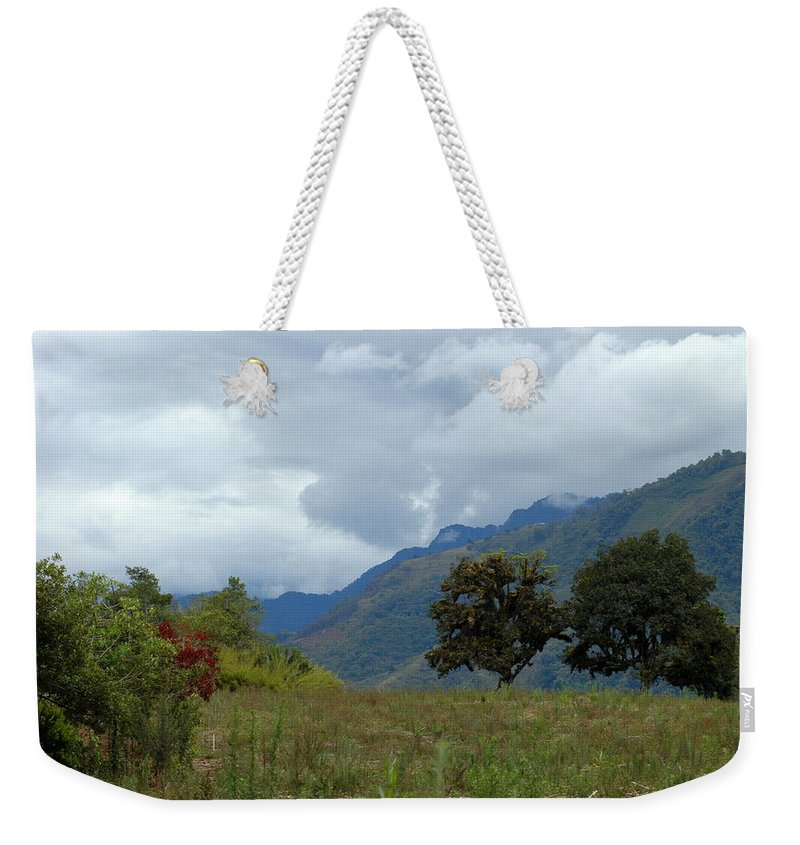 Tropics Weekender Tote Bag featuring the photograph A Rainy Day In The Mountains Of Ecuador by Teresa Stallings