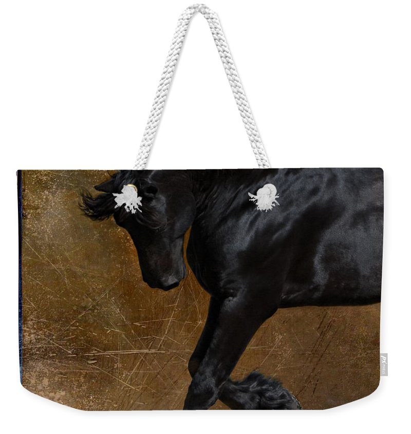 Horse Weekender Tote Bag featuring the photograph A Regal Bow by Jean Hildebrant