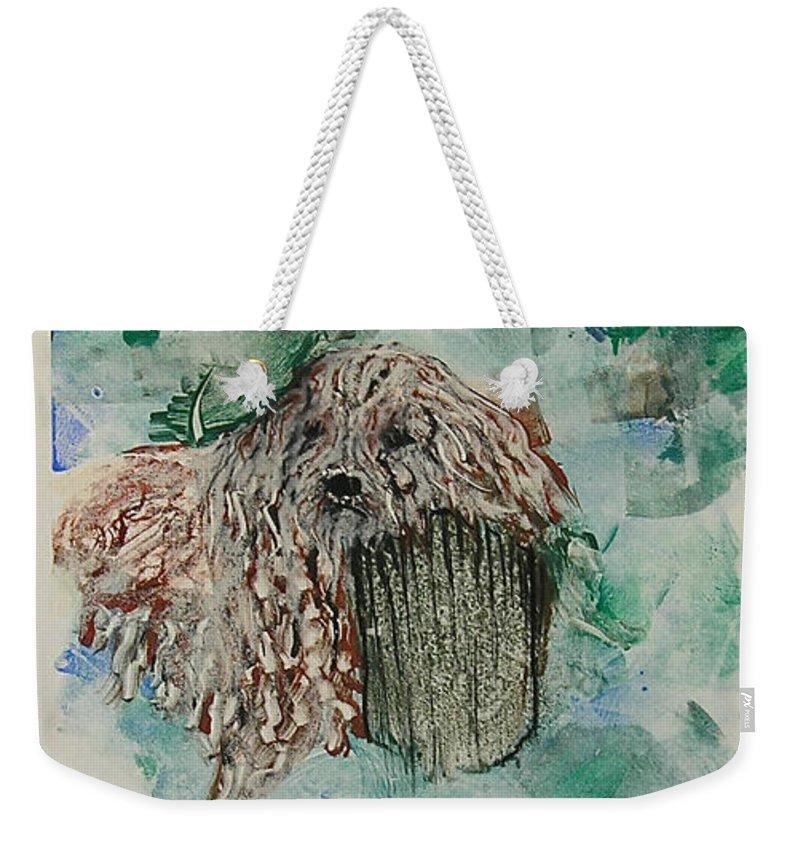 Komondor Weekender Tote Bag featuring the photograph A Respite by Cori Solomon