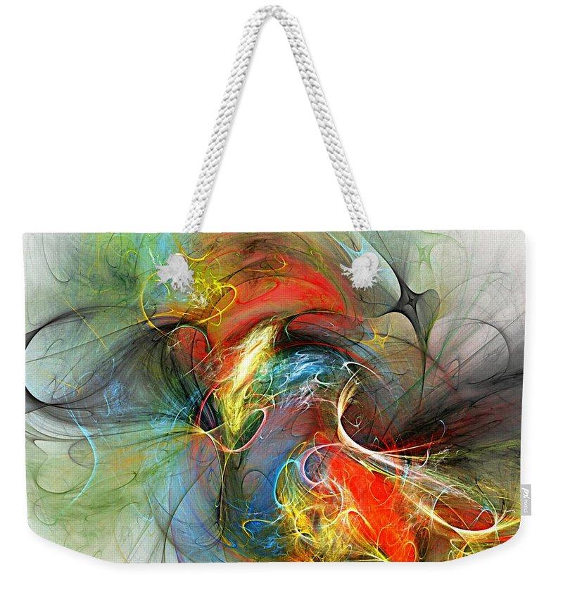 Fine Art Digital Art Weekender Tote Bag featuring the digital art A Rip In Space Time by David Lane
