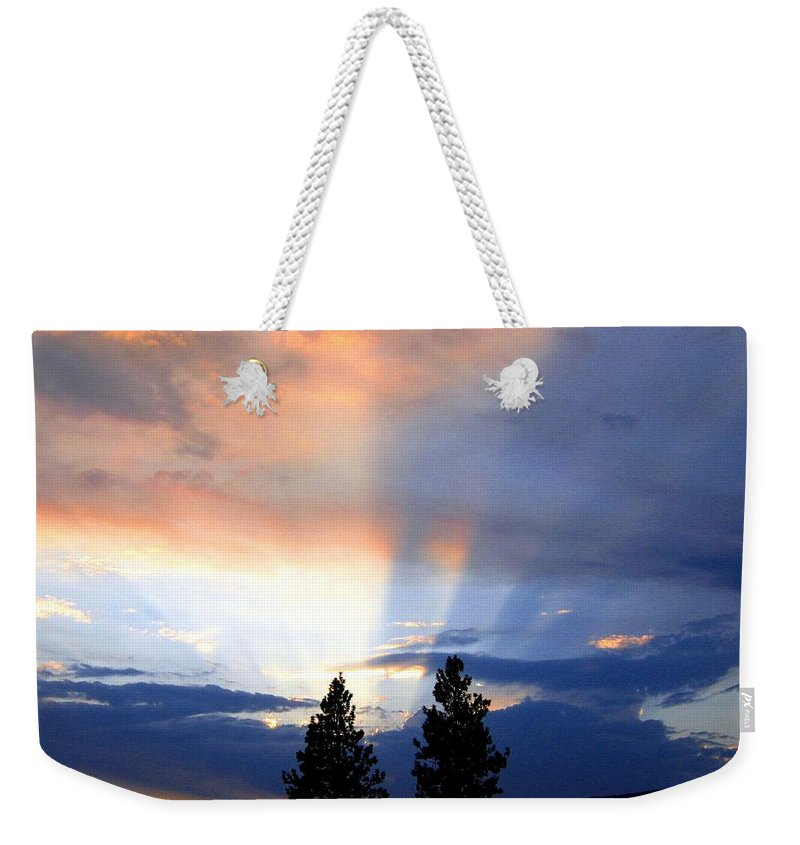 Sky Weekender Tote Bag featuring the photograph A Riveting Sky by Will Borden