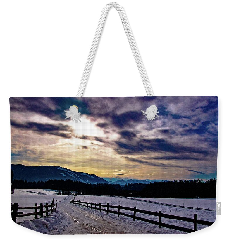 Tim Dussault Weekender Tote Bag featuring the photograph A Road To The Future by Tim Dussault