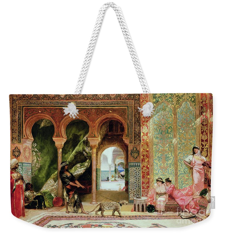 Royal Weekender Tote Bag featuring the painting A Royal Palace in Morocco by Benjamin Jean Joseph Constant