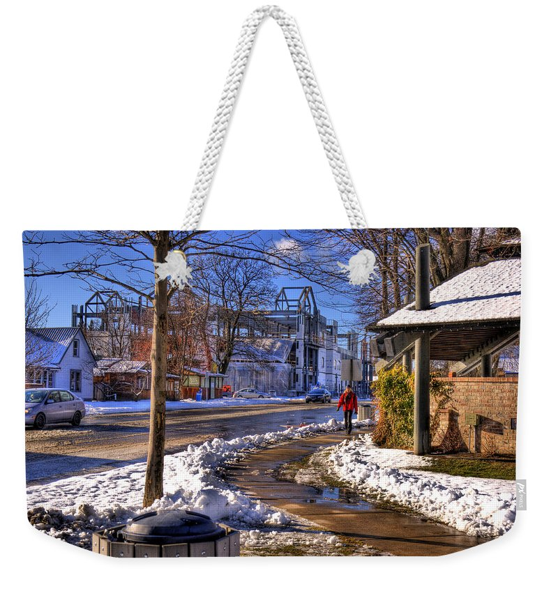 Scenic Weekender Tote Bag featuring the photograph A Sandpoint Winter by Lee Santa