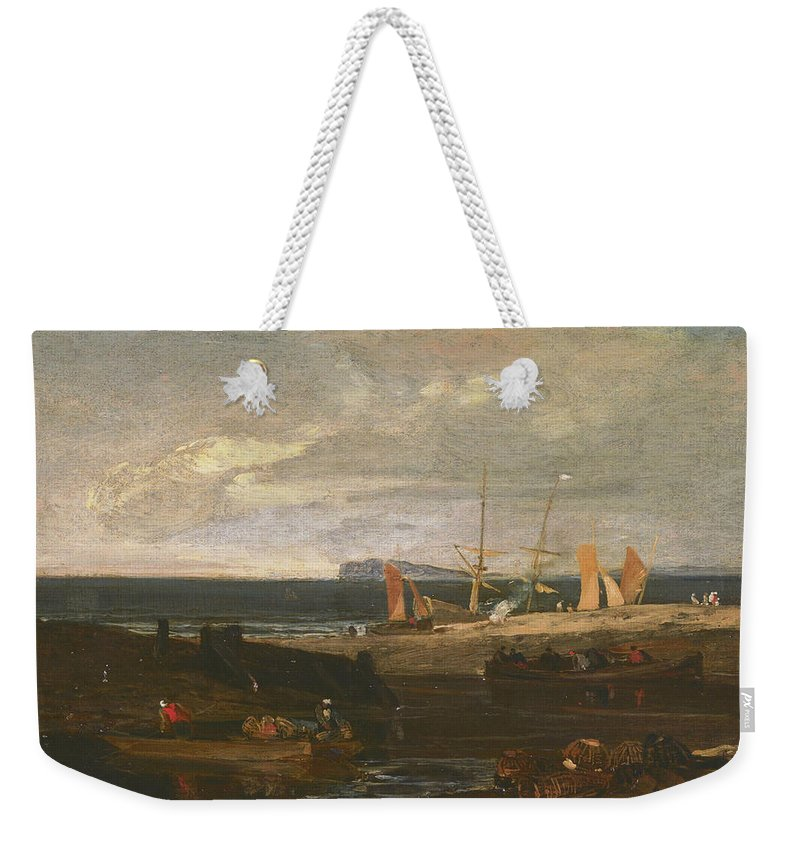 18th Century Art Weekender Tote Bag featuring the painting A Scene On The English Coast by Joseph Mallord William Turner