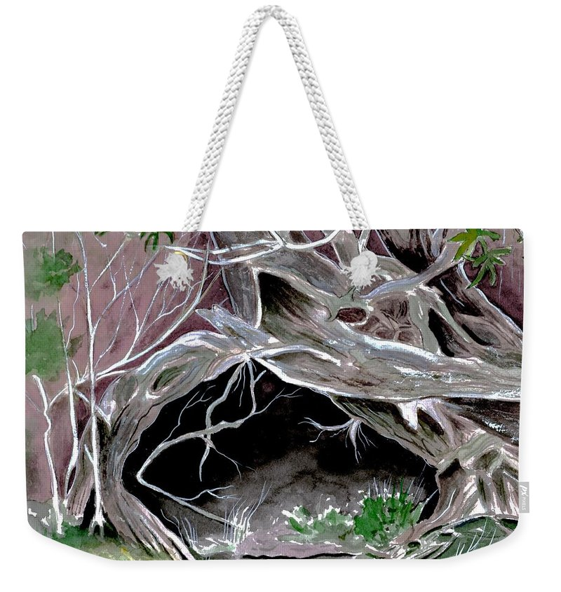 Secret Weekender Tote Bag featuring the painting A Secret Place by Brenda Owen