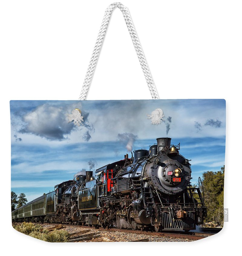 Steam Weekender Tote Bag featuring the photograph A Short Rest by Peter Crook