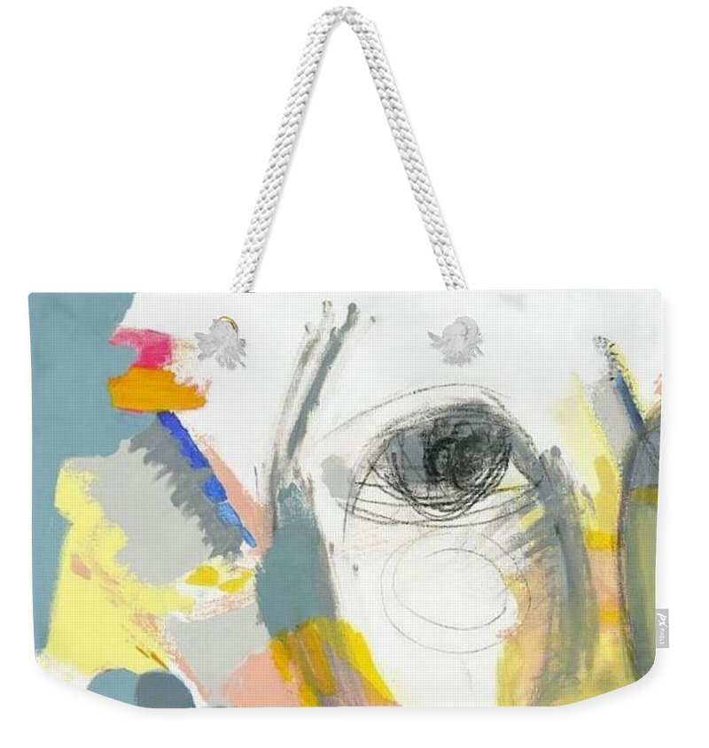 Shrewd Woman Weekender Tote Bag featuring the painting A Shrewd Woman by Danielle Nelisse