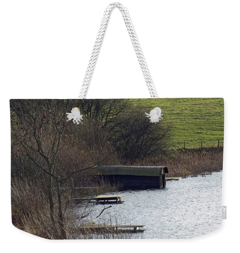 Shropshire Weekender Tote Bag featuring the photograph A Shropshire Mere by Bob Kemp