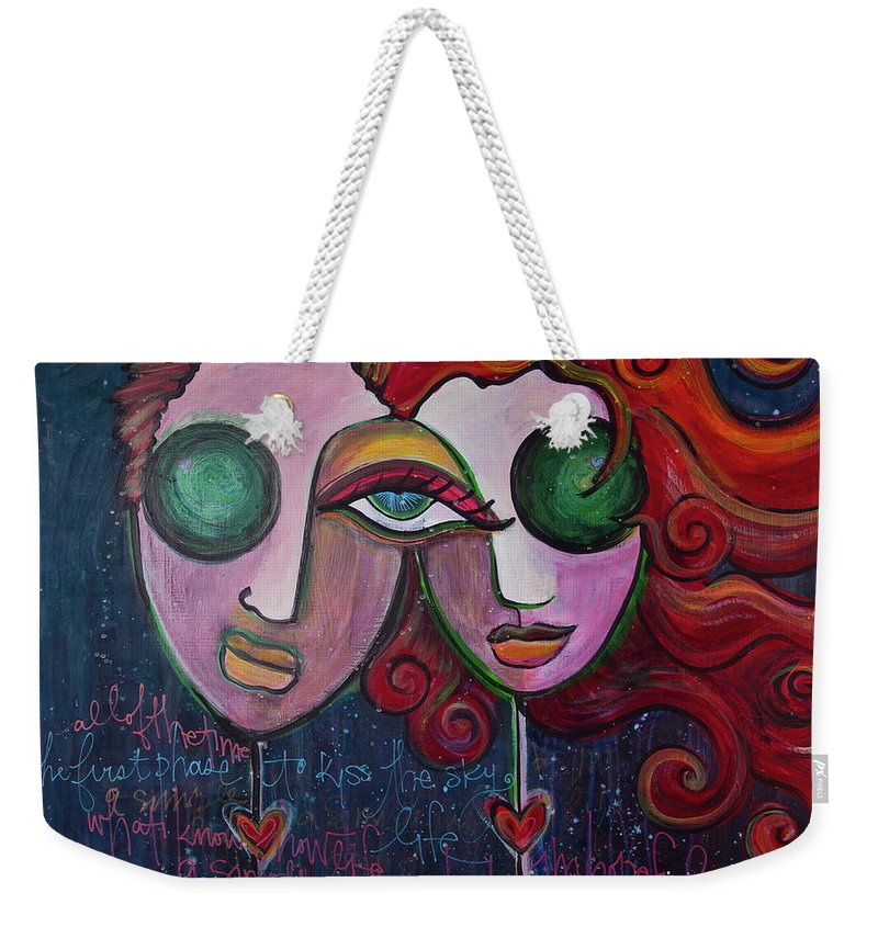 Muses Market Tour Weekender Tote Bag featuring the painting A Simple Life by Laurie Maves ART