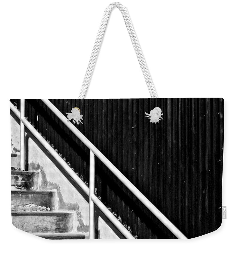Architectural Weekender Tote Bag featuring the photograph A Simple Matter by Tom Gowanlock