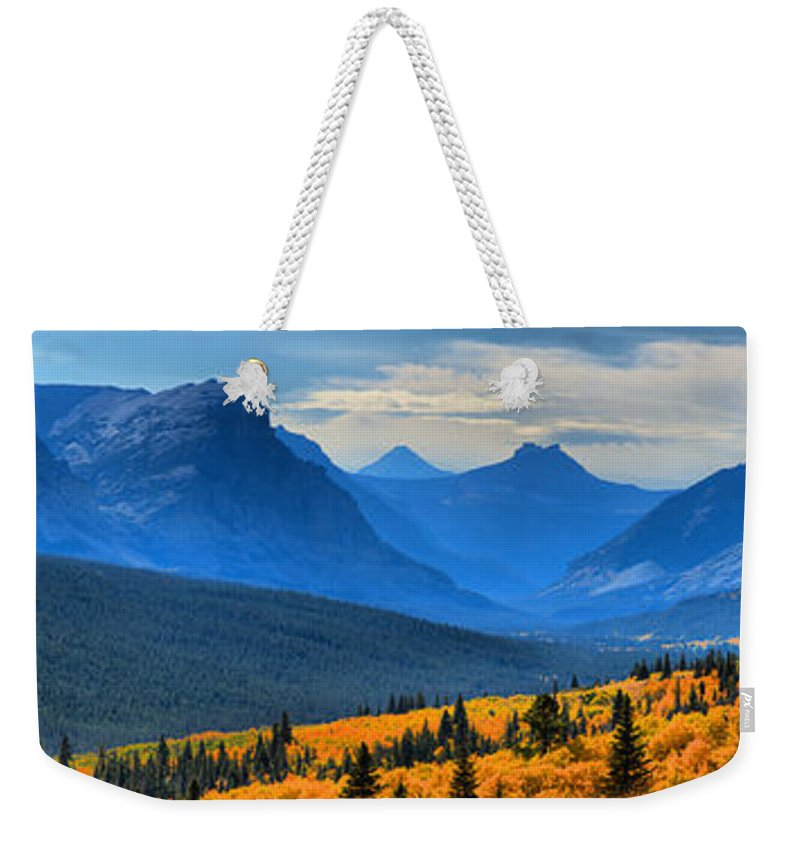 Montana Highway 2 Weekender Tote Bag featuring the photograph A Slice Of Autumn by Adam Jewell