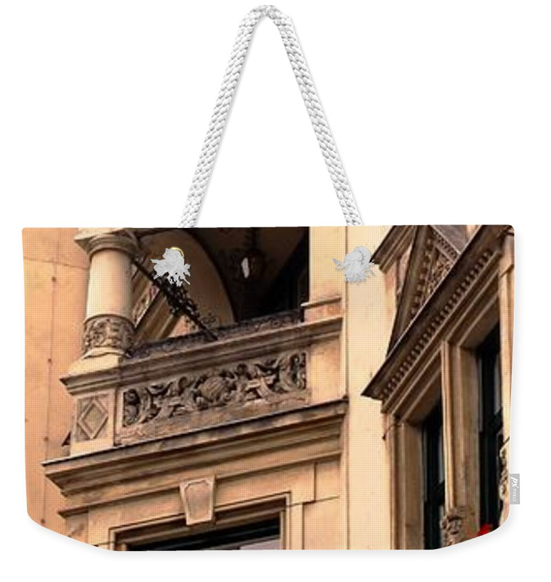 Vienna Weekender Tote Bag featuring the photograph A Slice Of Old Vienna by Ian MacDonald
