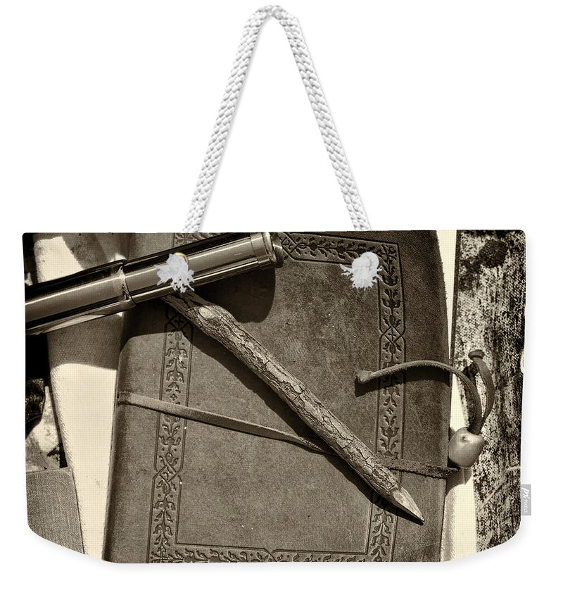 Civil Weekender Tote Bag featuring the photograph A Soldier's Recollection by Scott Wyatt