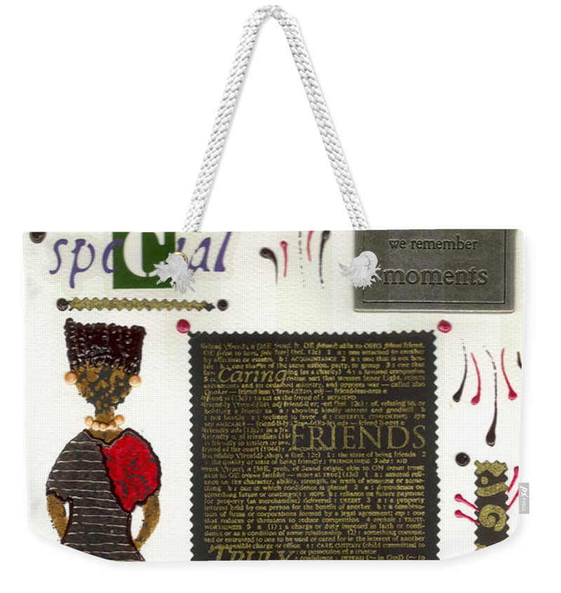 Gretting Cards Weekender Tote Bag featuring the mixed media A Special Friend by Angela L Walker