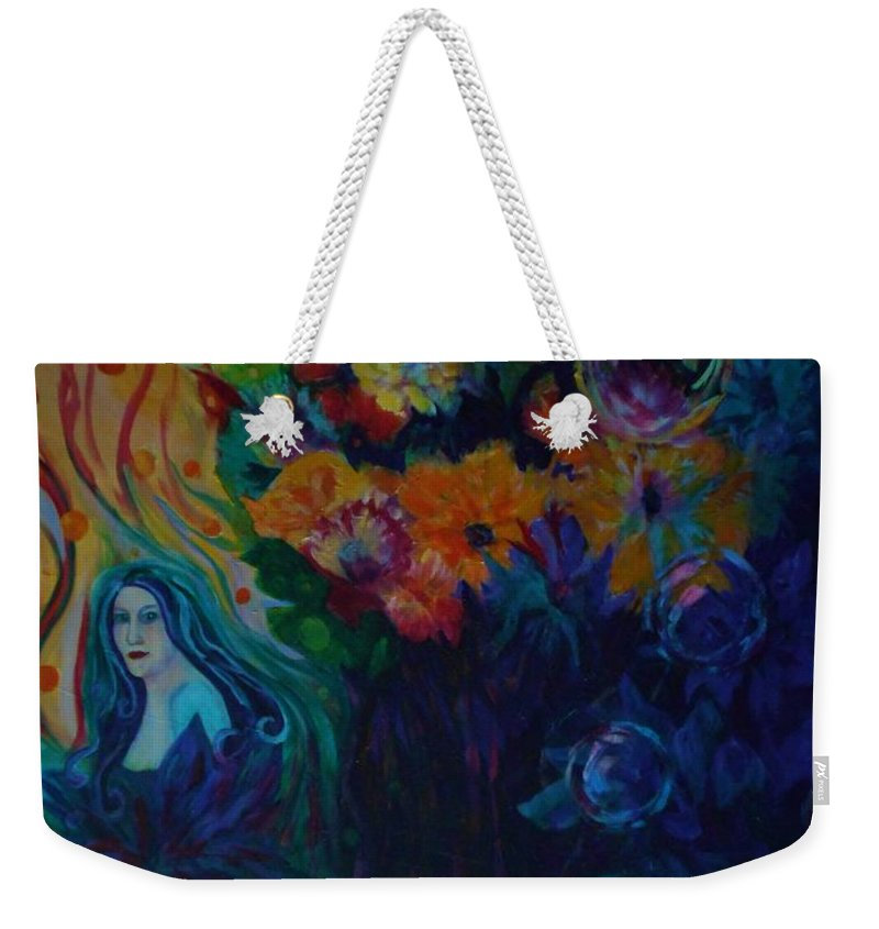 Fairies Weekender Tote Bag featuring the painting A Special Place For The Heart by Carolyn LeGrand