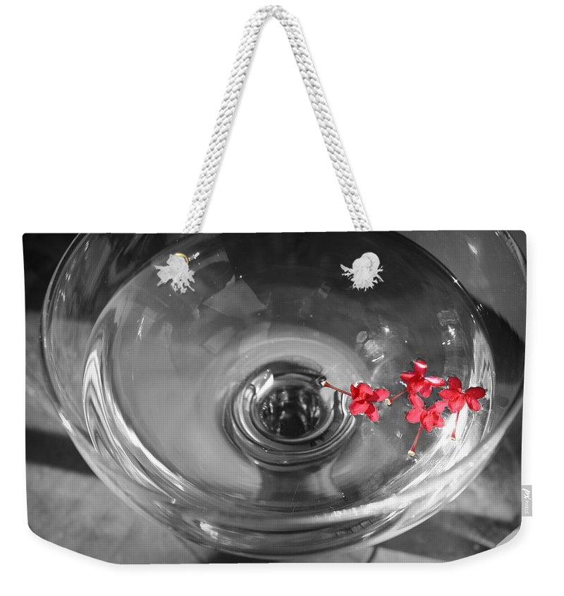 Water Weekender Tote Bag featuring the photograph A Splash Of Color by Mandy Shupp