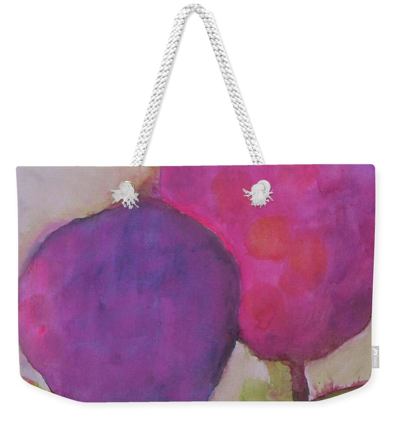 Abstract Landscape Weekender Tote Bag featuring the painting A Summer Day by Vesna Antic