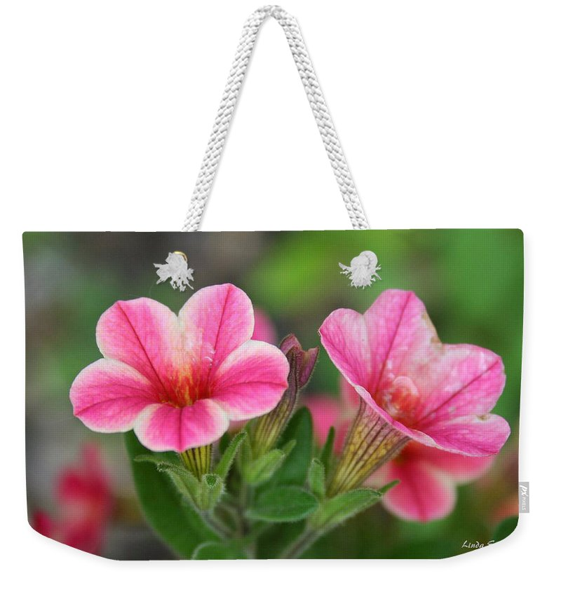 Flowers Weekender Tote Bag featuring the photograph A sunny afternoon by Linda Sannuti