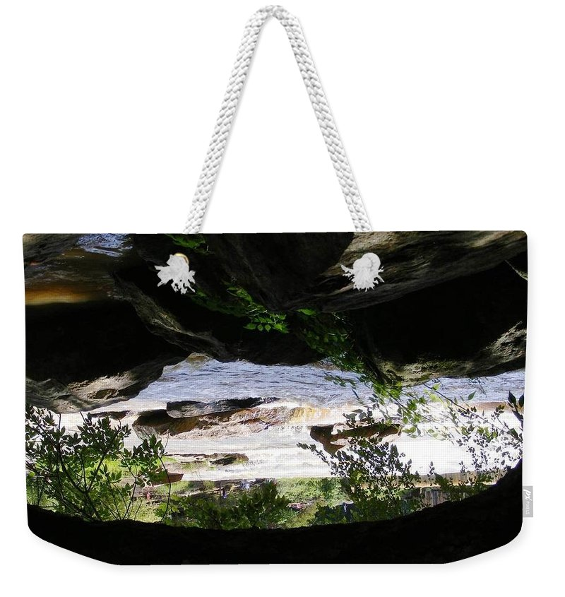 Landscape Weekender Tote Bag featuring the photograph A Surreal World by Monique Michel