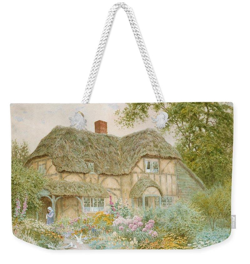 Thatched Roof Paintings Weekender Tote Bags