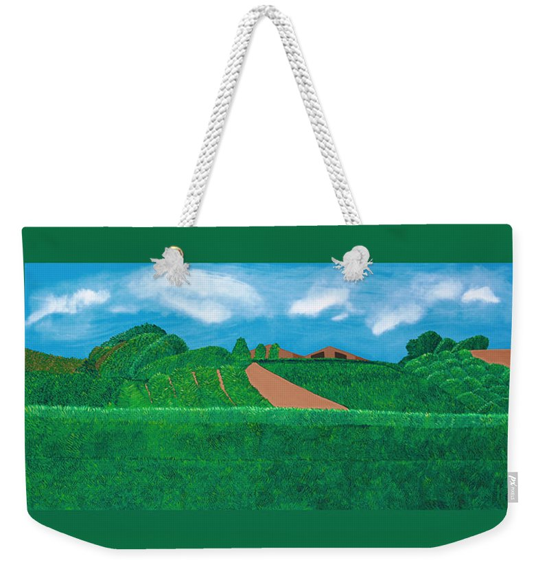 Landscape Weekender Tote Bag featuring the painting A Taste Of Tuscany by Synthia SAINT JAMES