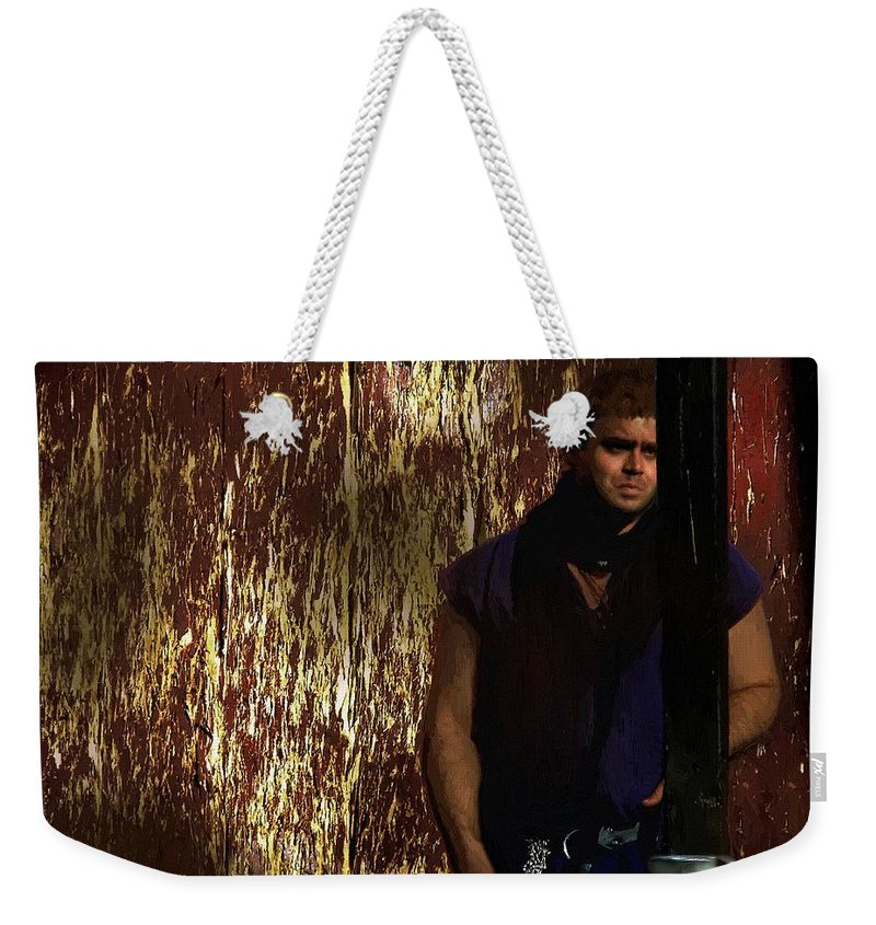 Man Weekender Tote Bag featuring the painting A Tavern In Deptford by RC DeWinter