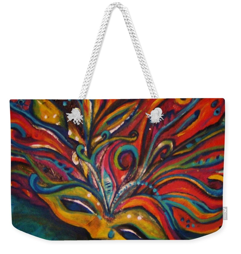 New Orleans Weekender Tote Bag featuring the painting A Tear for New Orleans by Sidra Myers