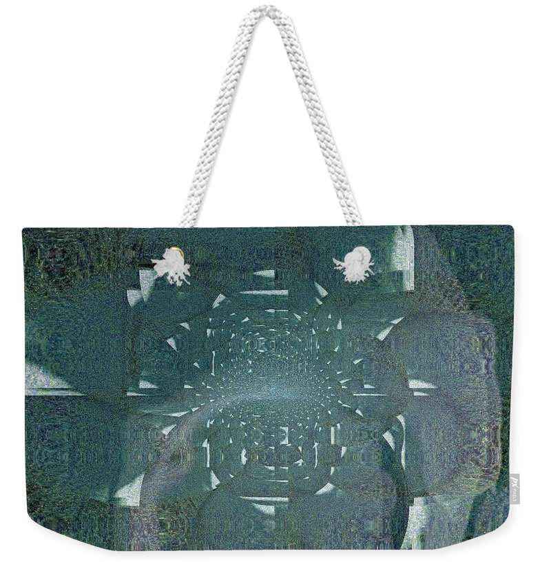 Fania Simon Weekender Tote Bag featuring the mixed media A Test Of Compatibility by Fania Simon