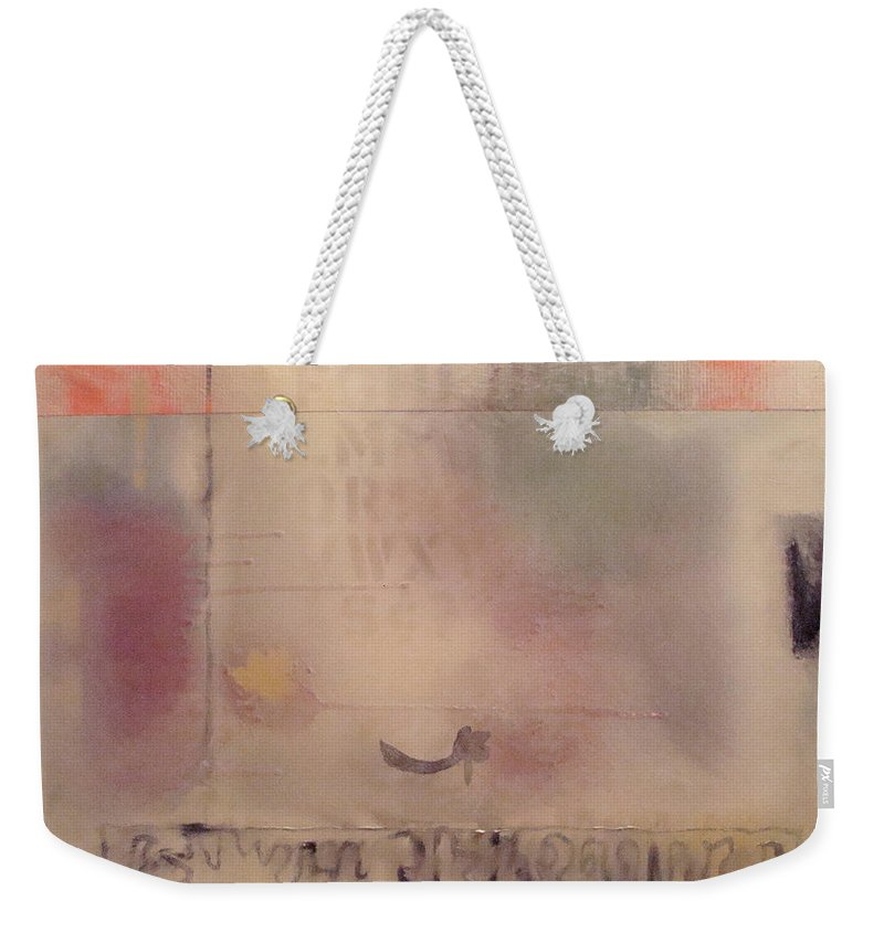 Abstract Weekender Tote Bag featuring the painting A Thought Of Stillness by W Todd Durrance