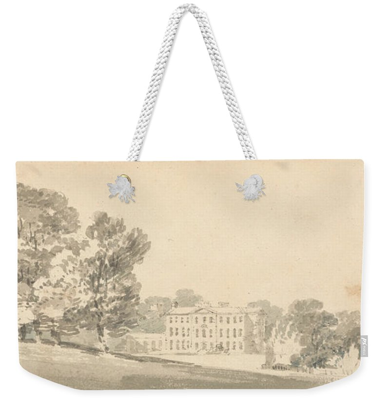18th Century Art Weekender Tote Bag featuring the painting A Three Storied Georgian House In A Park by Joseph Mallord William Turner
