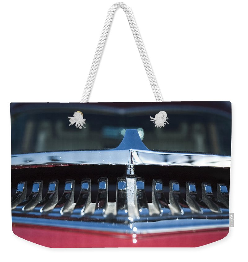 Auto Weekender Tote Bag featuring the photograph A Toothy Grin by Richard Henne