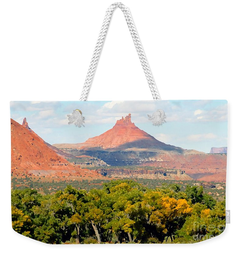 Fall Weekender Tote Bag featuring the photograph A Touch Of Fall by David Lee Thompson
