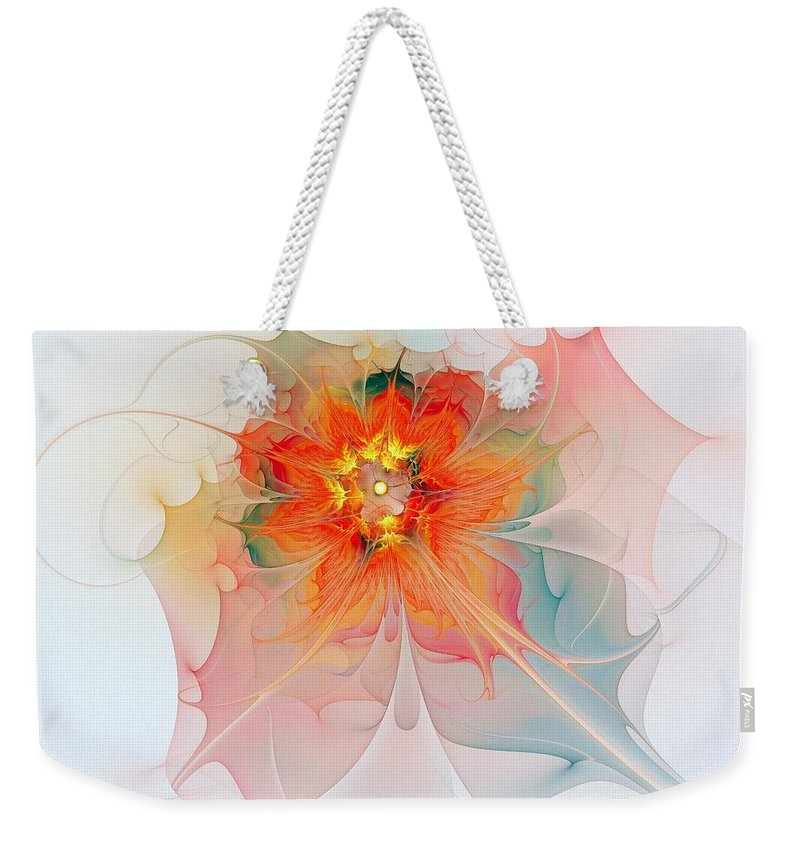 Digital Art Weekender Tote Bag featuring the digital art A Touch Of Spring by Amanda Moore