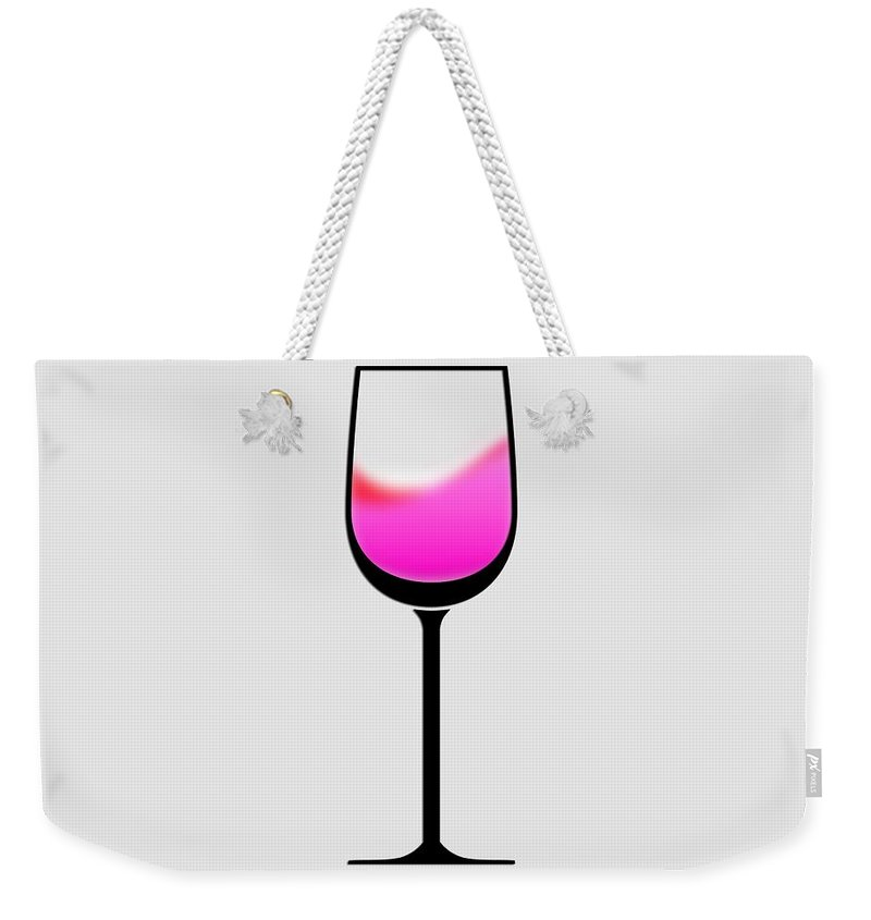Photo Frames Weekender Tote Bag featuring the digital art A Touch Of Wine by CE Haynes