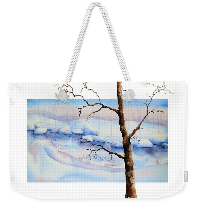 Tree Weekender Tote Bag featuring the painting A Tree In Another Dimension by Debbie Lewis