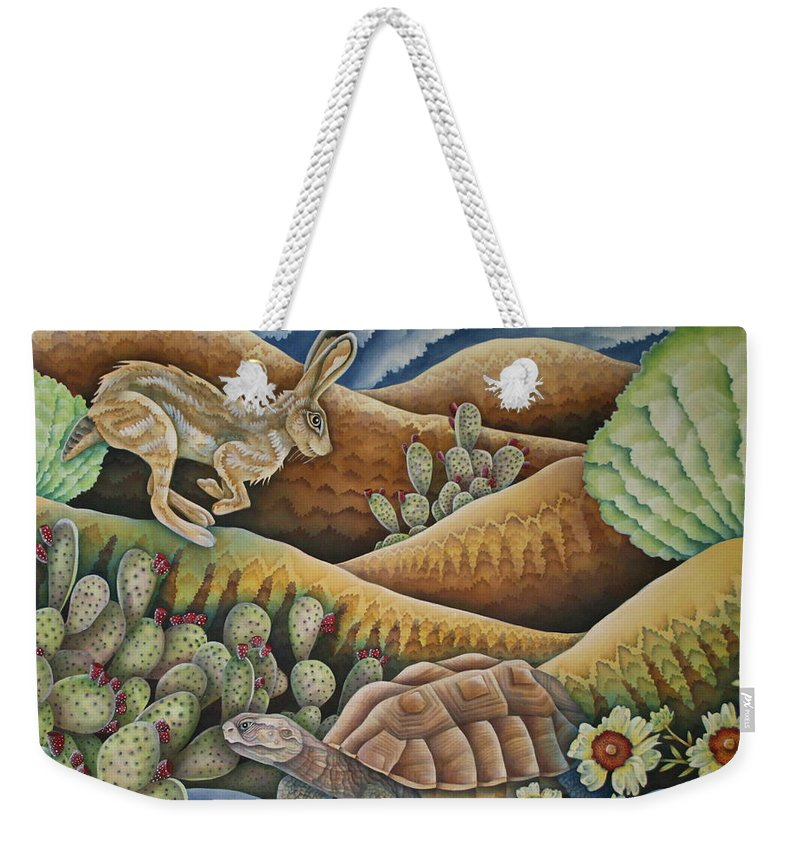 Aesop Weekender Tote Bag featuring the painting A Tribute To Aesop by Jeniffer Stapher-Thomas