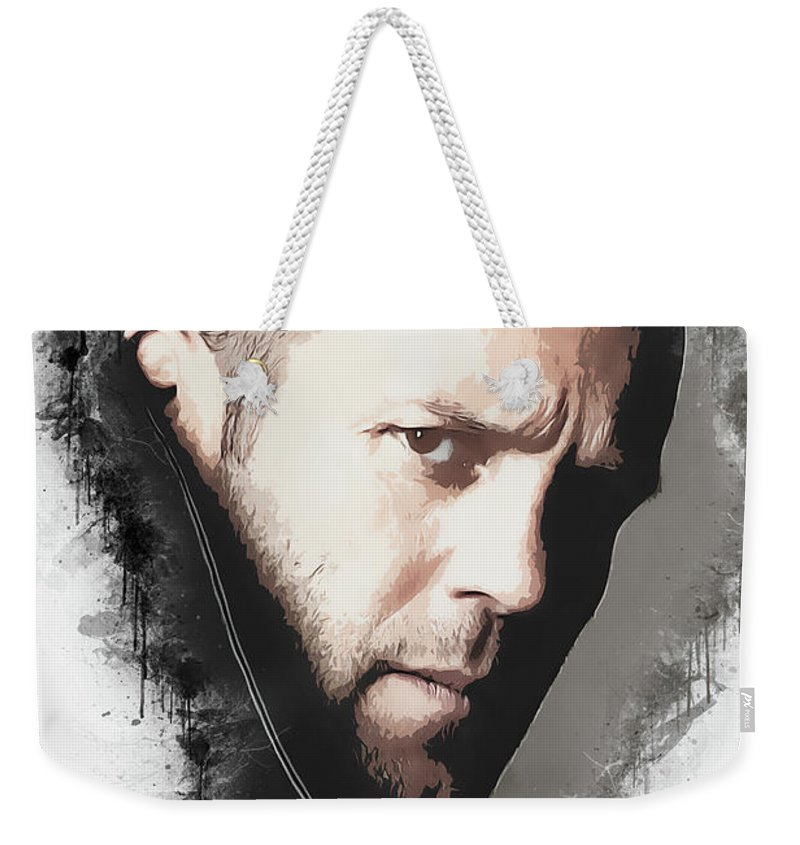 Movies Weekender Tote Bag featuring the digital art A Tribute to JASON STATHAM by Dusan Naumovski